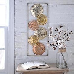 Metallic Circles II Metal Plaques