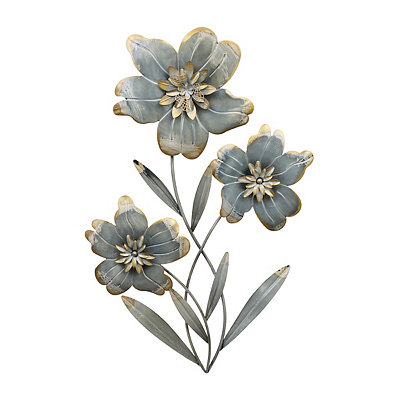 Cottage Blue Floral II Metal Plaque