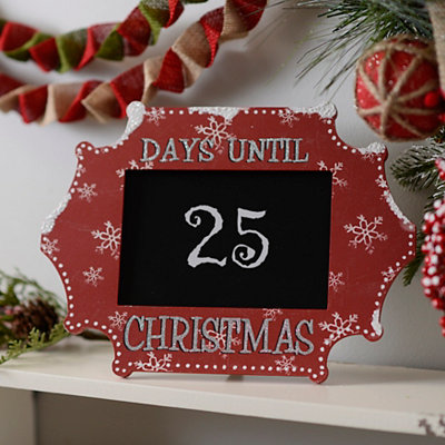 Day Until Christmas Chalkboard Easel