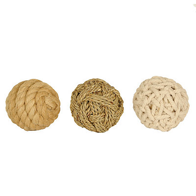 Natural Rope Orbs, Set of 3
