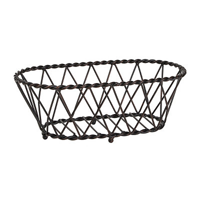 Antique Black Oval Basket