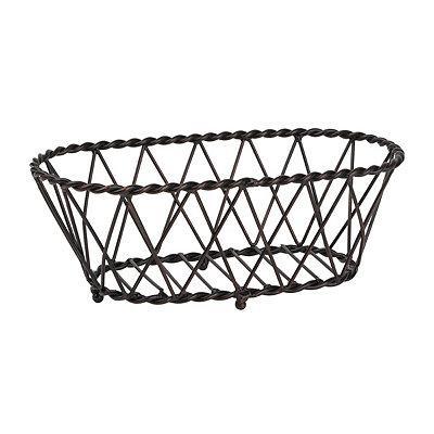 Antique Black Oval Basket