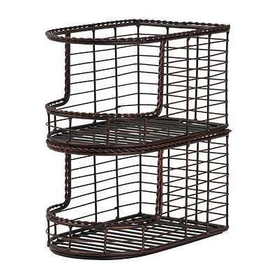 Antique Black Stacking Baskets, Set of 2