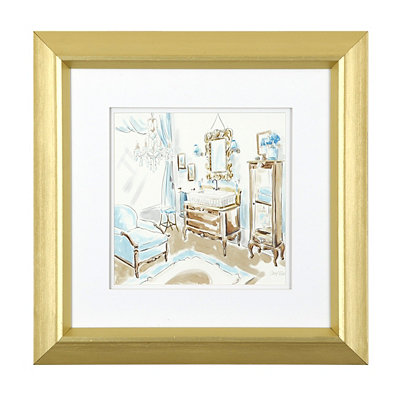 Blue Opulence I Framed Art Print