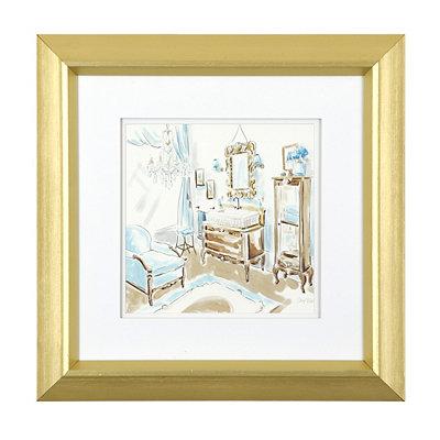 Blue Opulence I Framed Art Print