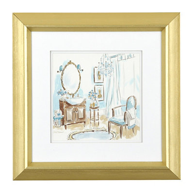 Blue Opulence II Framed Art Print