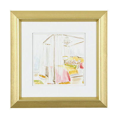Modern Bedroom I Framed Art Print