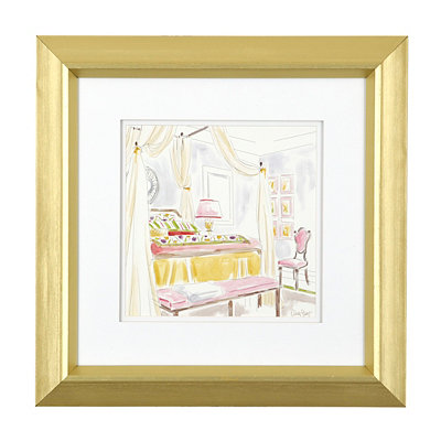 Modern Bedroom II Framed Art Print
