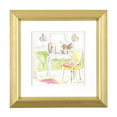 Modern Dressing Room II Framed Art Print