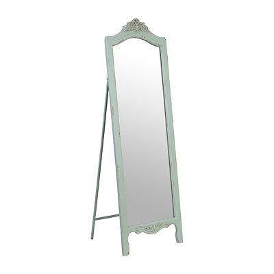 Ornate Distressed Blue Cheval Mirror