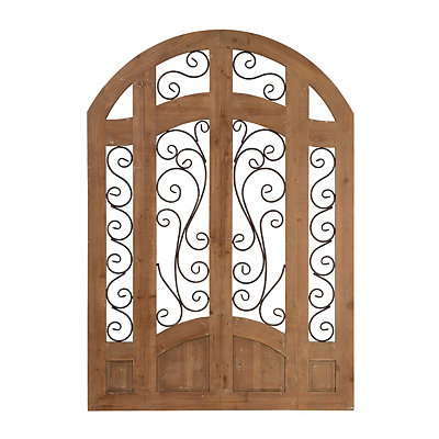 Distressed Natural Grand Entrance Wooden Plaque