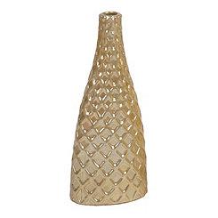 Pearl Diamond Embossed Metallic Vase