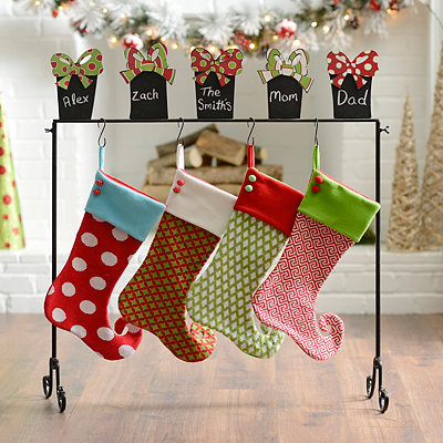 Chalkboard Presents Stocking Holder