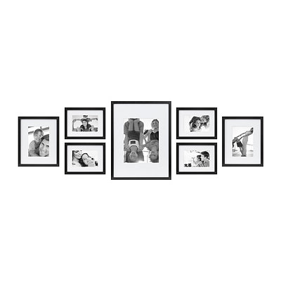 Black 7-pc. Gallery Picture Frame Set