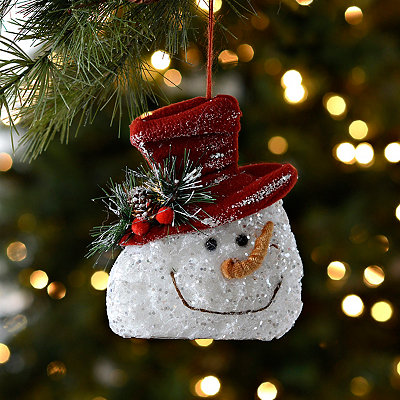 Frosted Snowman Ornament