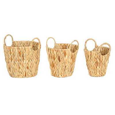 Braided Round Baskets, Set of 3