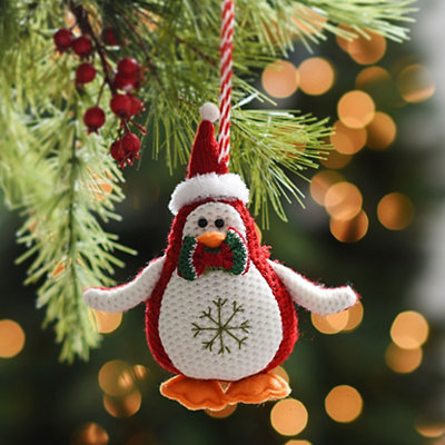 Plush Knit Penguin Ornament