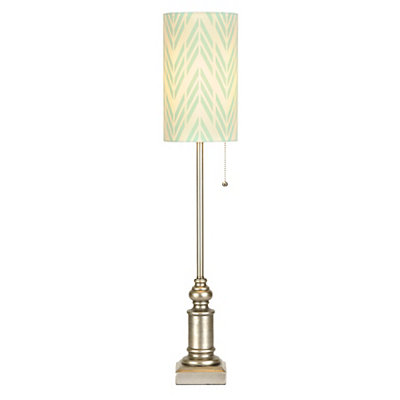 Aqua Arrow Candlestick Buffet Lamp