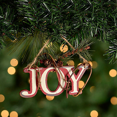 Joy Winter Floral Ornament