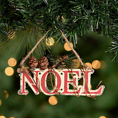 Noel Winter Floral Ornament