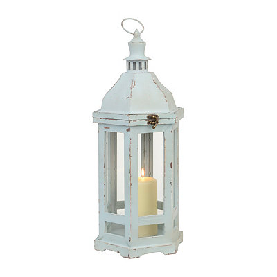 Distressed Old Turquoise Lantern