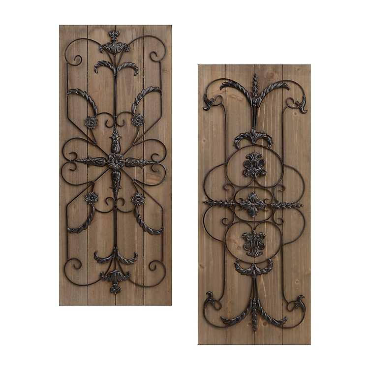 adelaide natural wooden plaque set of 2 kirklands