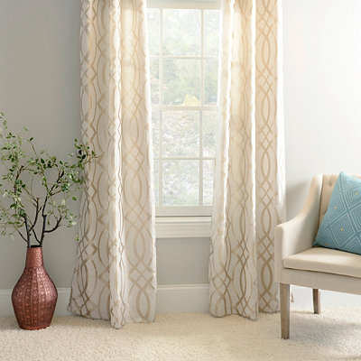 Metallic Avalon Curtain Panel Set, 84 in.