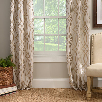 Metallic Avalon Curtain Panel Set, 96 in.