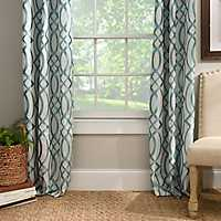 Aqua Avalon Curtain Panel Set, 96 in.