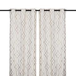 Gray Avalon Curtain Panel Set, 84 in.