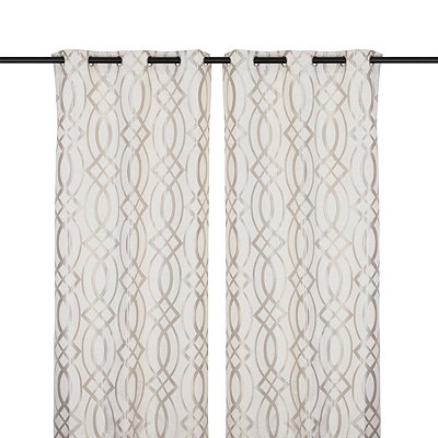 Gray Avalon Curtain Panel Set, 84 in.