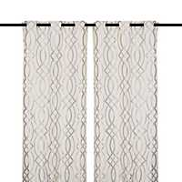 Gray Avalon Curtain Panel Set, 96 in.