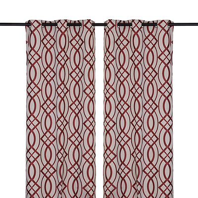 Red Avalon Curtain Panel Set, 84 in.