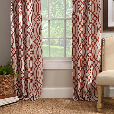 Spice Avalon Curtain Panel Set, 96 in.
