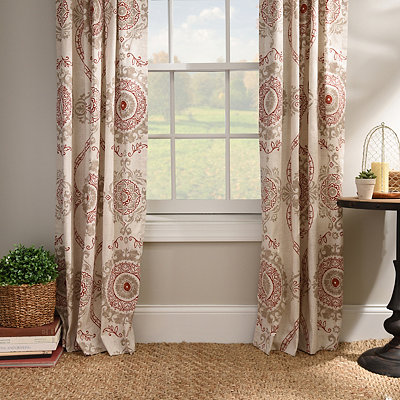 Spice Loretta Curtain Panel Set, 96 in.