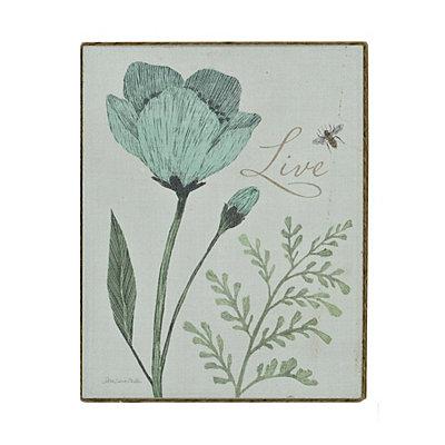 Blue Floral Live Canvas Art Print
