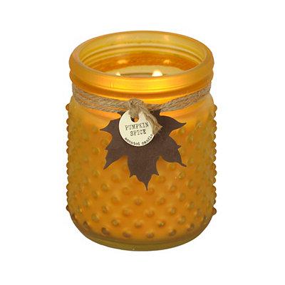 Pumpkin Patch Hobnail Jar Candle