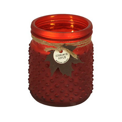Cinnamon Apple Hobnail Jar Candle