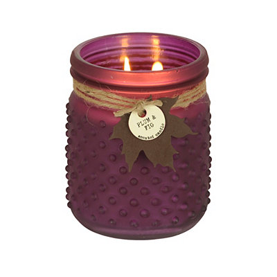 Plum and Fig Hobnail Jar Candle