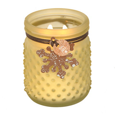 Rum Cake Hobnail Jar Candle