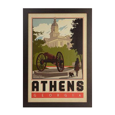 Vintage Athens Framed Poster Print