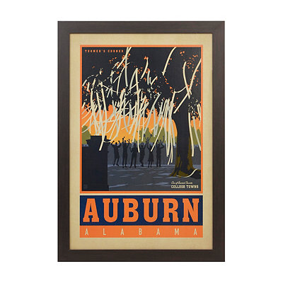 Vintage Auburn Framed Poster Print