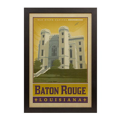 Vintage Baton Rouge Framed Poster Print