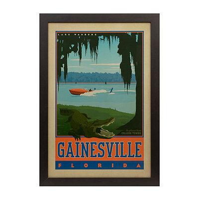 Vintage Gainesville Framed Poster Print
