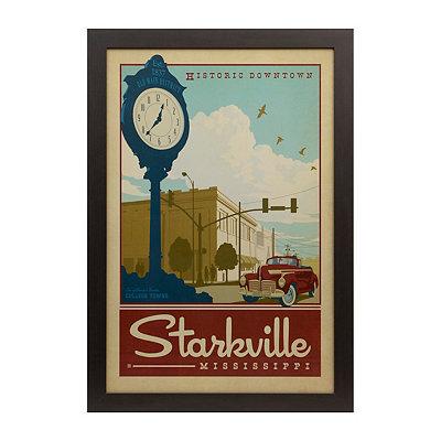 Vintage Starkville Framed Poster Print