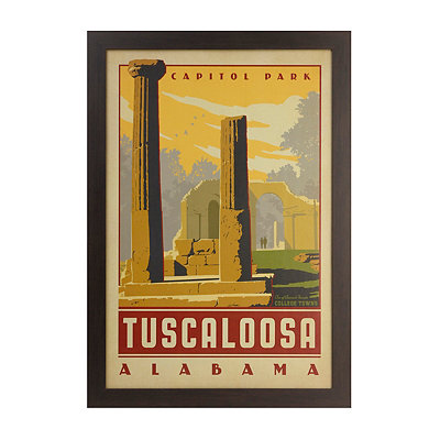 Vintage Tuscaloosa Framed Poster Print
