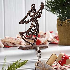 Bronze Angel Stocking Holder