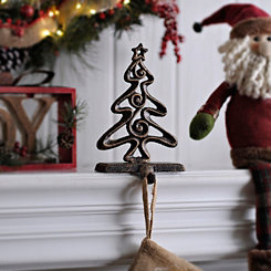 Bronze Christmas Tree Stocking Holder