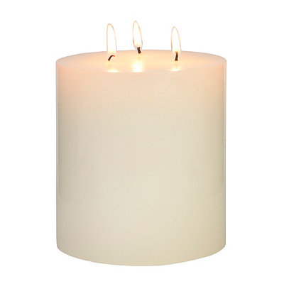Unscented White Pillar Candle, 5 in.