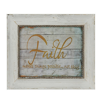 Faith Wood Plank Framed Art Print